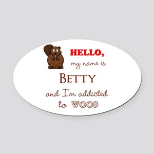 Hello, My Name Is [Customize] Oval Car Magnet